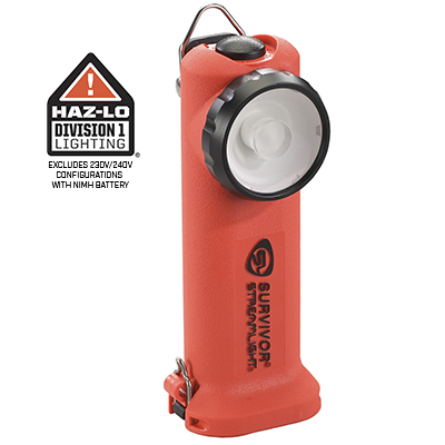 SURVIVOR® RIGHT ANGLE LED LIGHT :: RECHARGEABLE OR ALKALINE