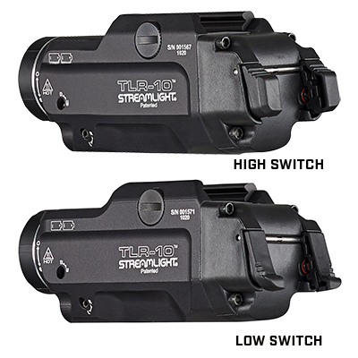 TLR-10™ GUN LIGHT WITH RED LASER AND REAR SWITCH OPTIONS