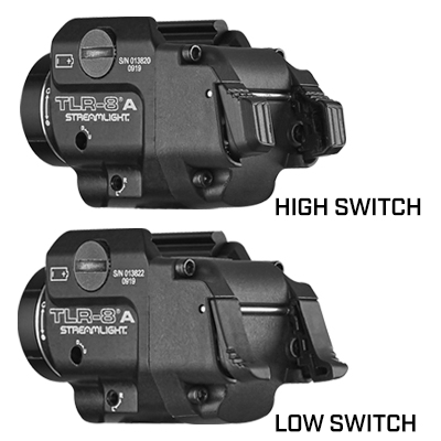 TLR-8®A GUN LIGHT WITH RED LASER AND REAR SWITCH OPTIONS