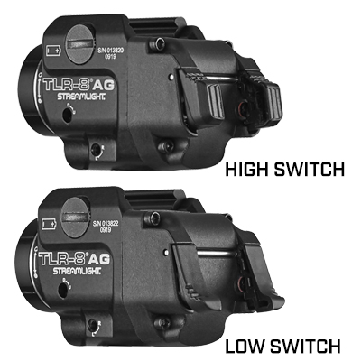 TLR-8®A G GUN LIGHT WITH GREEN LASER AND REAR SWITCH OPTIONS