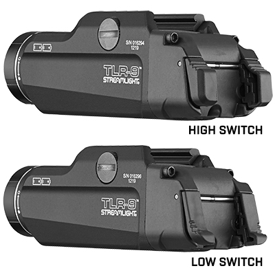 TLR-9® GUN LIGHT WITH AMBIDEXTROUS REAR SWITCH OPTIONS
